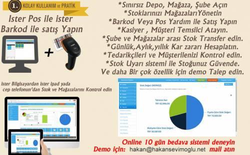 Online Stok satış Takip sistemi